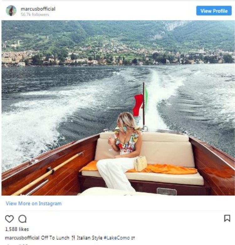 Tận hưởng ly rượu vang trên hồ Como.