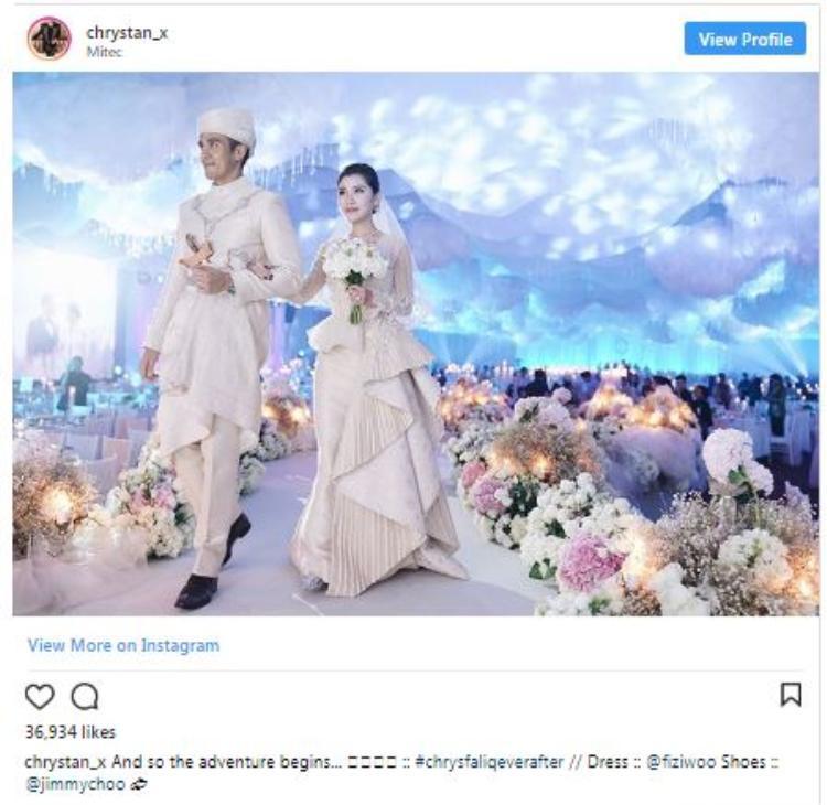 @Chrystan_x tổ chức đám cưới đẹp lung linh như trong truyện cổ tích.