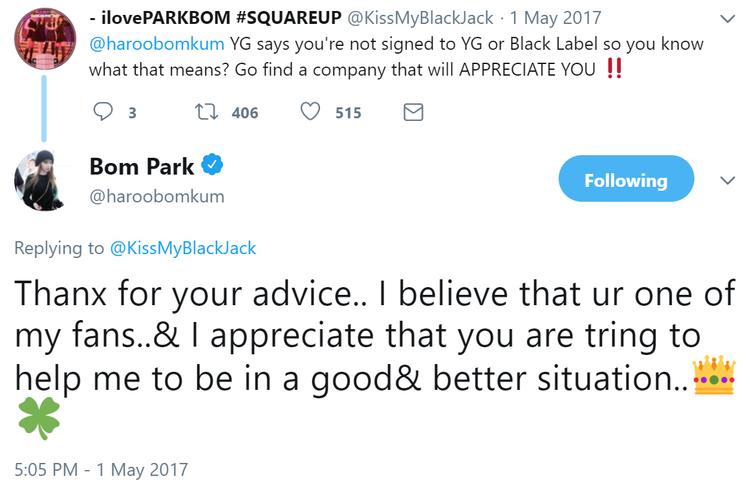 Park Bom công khai nhà sản xuất mới, chấm dứt mọi nghi vấn về việc còn là nghệ sĩ của YG