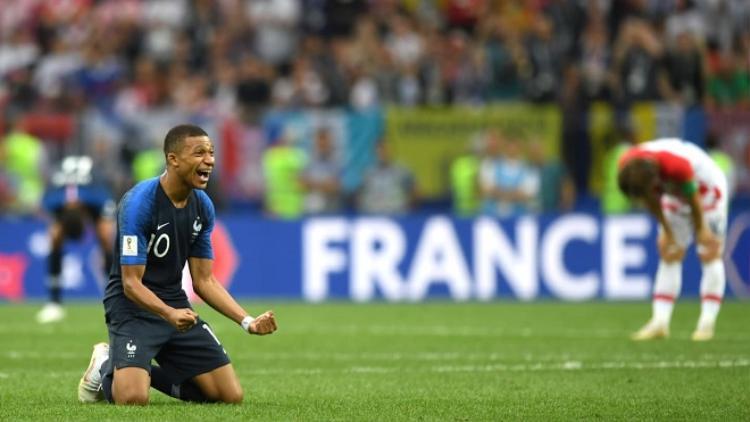Mbappe tỏ ra phấn khích với chiến công cùng ĐT Pháp. Ảnh: Fifa.com.