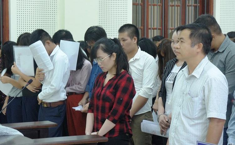 Bị cáo Lam tại phiên tòa