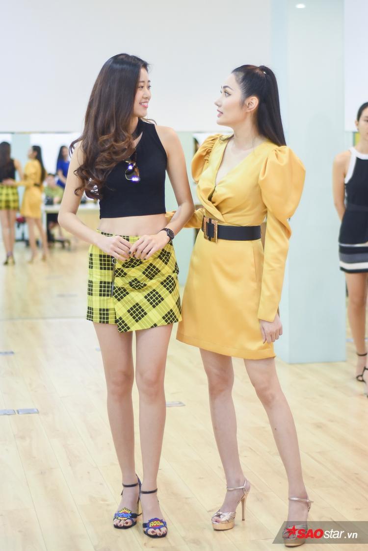 Diệu Linh cũng cho biết, cô rất ấn tượng với chiều cao của các bạn thí sinh năm nay.