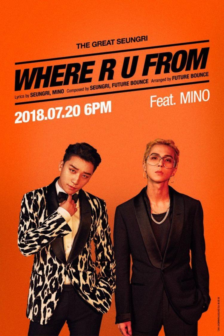 Hình ảnh kết hợp của Seungri (BigBang) và Mino (WINNER) được công bố khiến fan của 2 nhóm vô cùng phấn khích.