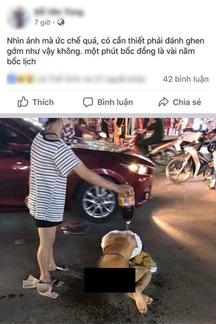 Hình ảnh cô gái bị lột đồ, đánh đập dã man.