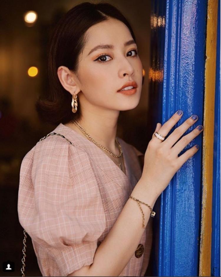 Chipu khoe tấm ảnh được Quỳnh Anh Shyn chụp và chỉnh dùm.