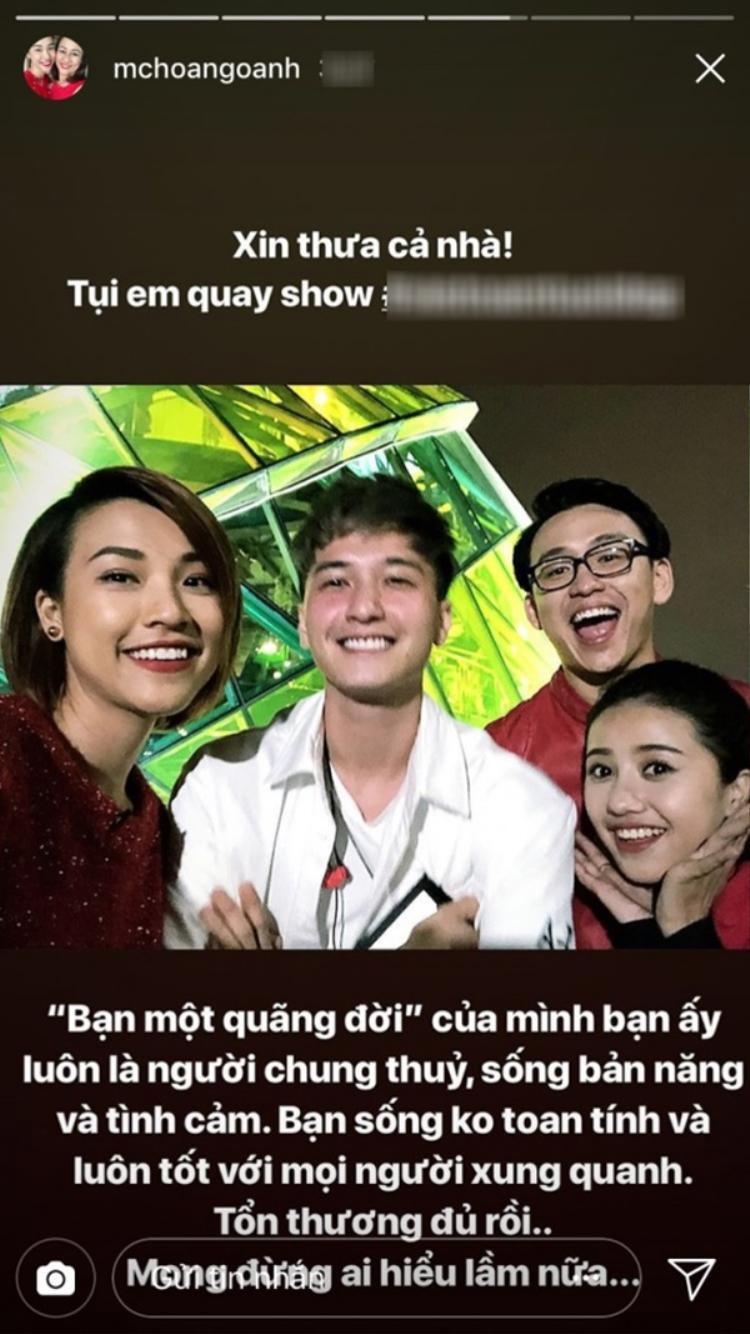 """Hoàng Oanh gọi Huỳnh Anh là """"bạn một quãng đời""""."""
