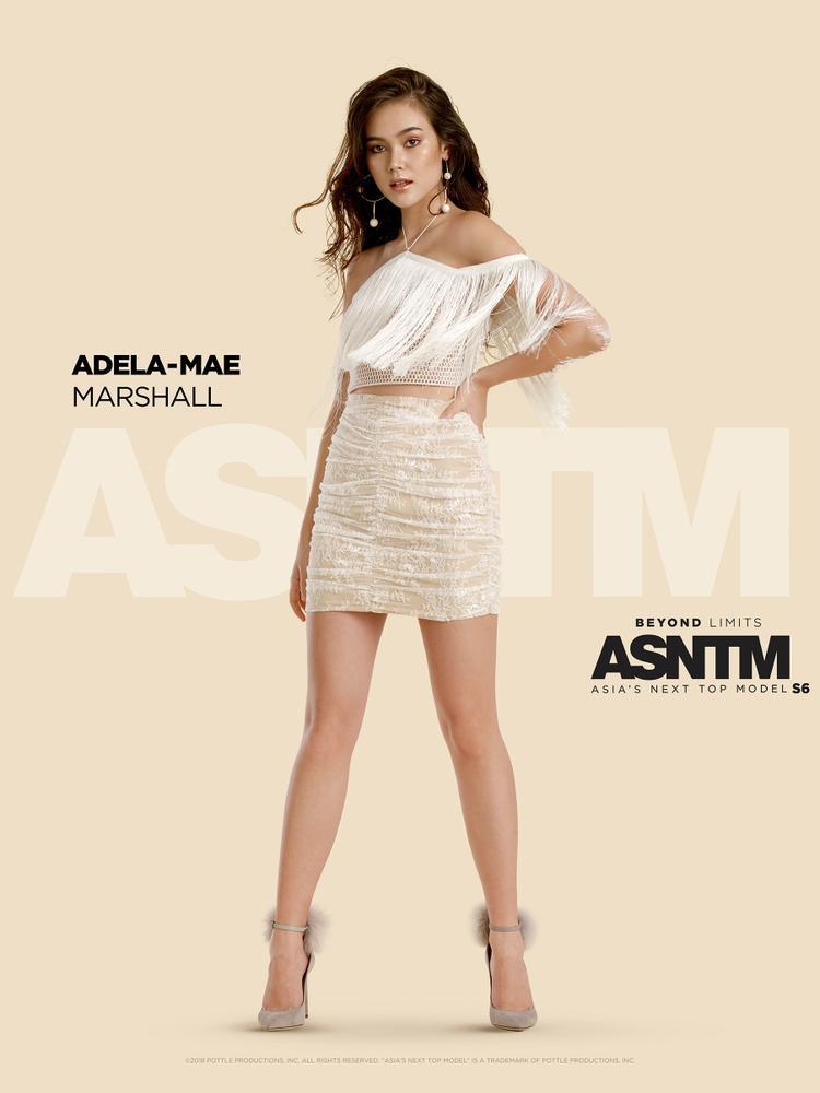 Adela-Mae Marshall, 20 tuổi: Sau khi gây chú ý tại quê nhà trong chương trình Philippine's Next Top Model, Adela đã sẵn sàng theo đuổi ước mơ nổi tiếng thế giới của mình; cô mang đến cuộc thi không chỉ vẻ đẹp và còn có các kỹ năng toàn diện trong âm nhạc và bơi lội. Cử chỉ nghiêm túc của cô có thể khiến người khác hiểu nhầm là hợm hĩnh, nhưng hãy nói chuyện để thấy cô ấy vui vẻ và tràn năng lượng như thế nào.