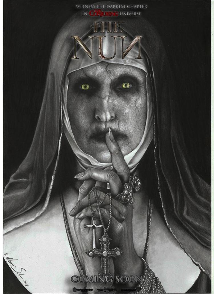 Xơ Valak lộ poster quỷ quyệt cho phim kinh dị mới 'The Nun'
