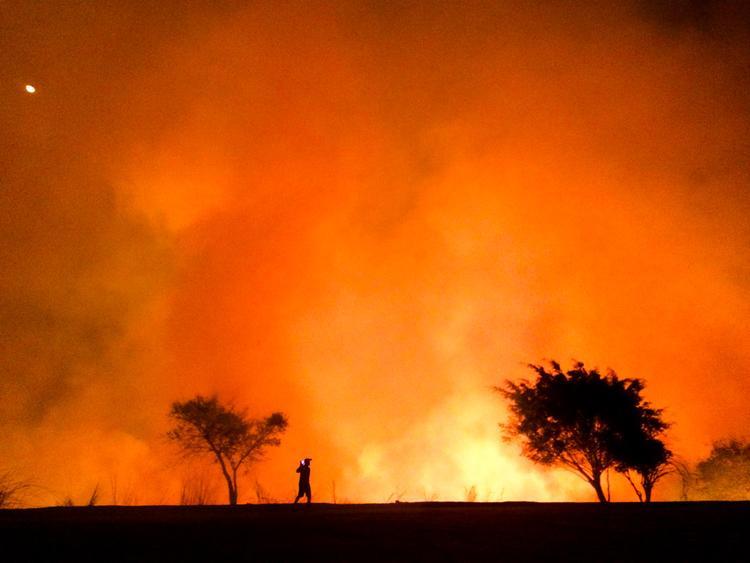 """Giải nhì Tin tức và Sự kiện - """"The Heat"""": Chụp bằng iPhone 5s. (Moises Silva)"""
