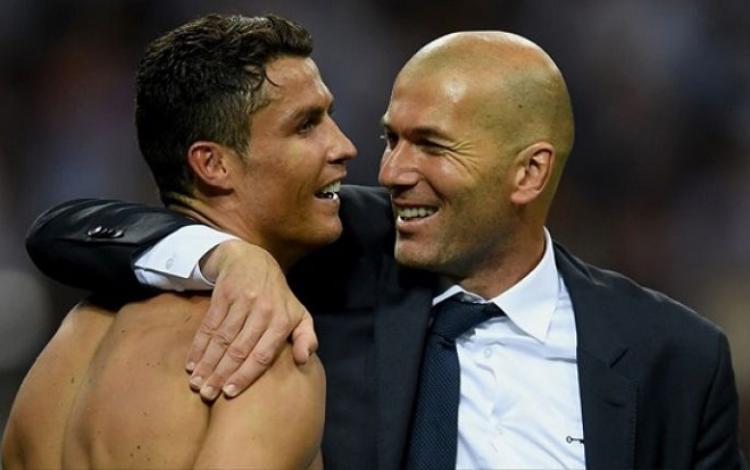 Chuyển sang Juventus, Zidane sẽ tái ngộ với Ronaldo. Ảnh: Getty.