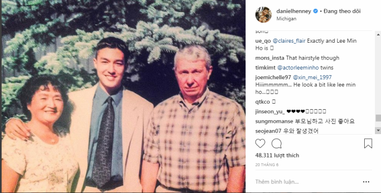Hình trên Instagram của nam diễn viên.