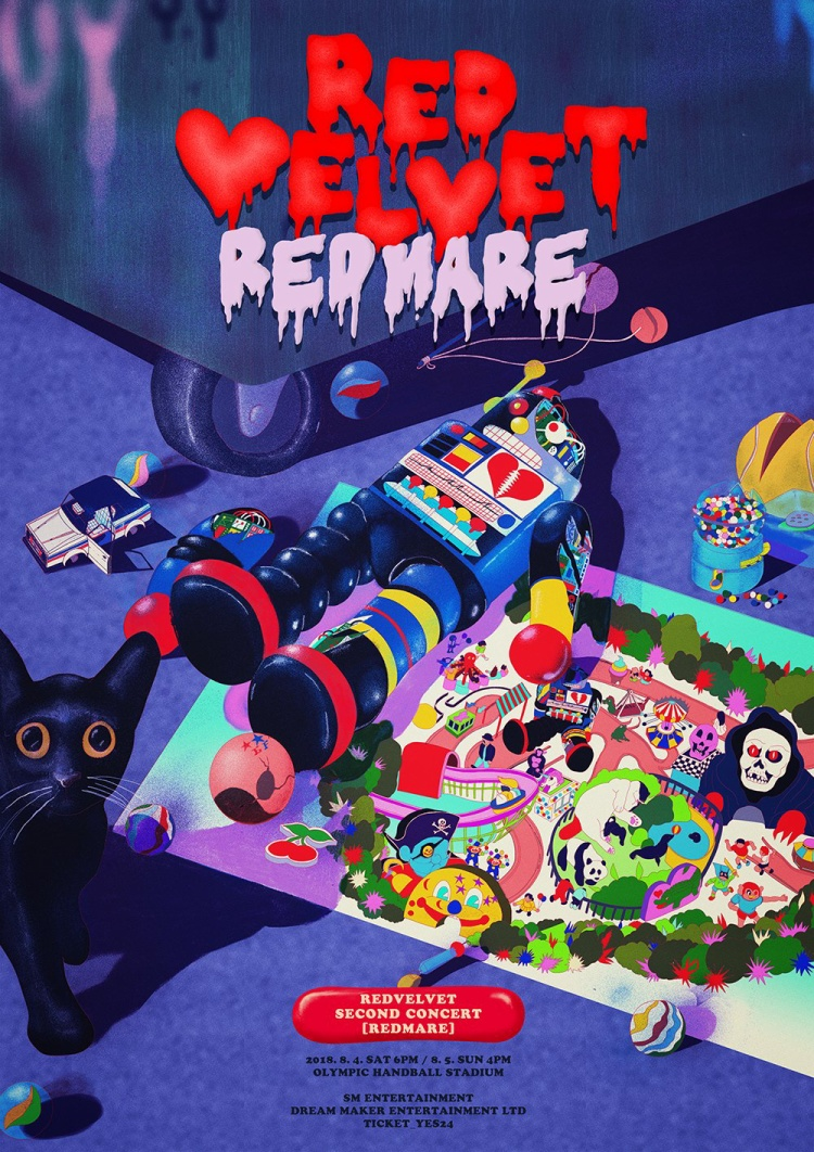 Poster cho concert REDMARE.