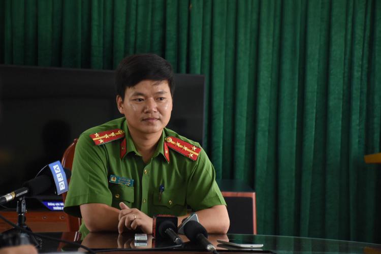 Đại úy Đỗ Đình Viên, Tiểu đoàn trưởng Tiểu đoàn 2 (thuộc bộ Tư lệnh Cảnh sát cơ động - K20) thông tin báo chí.