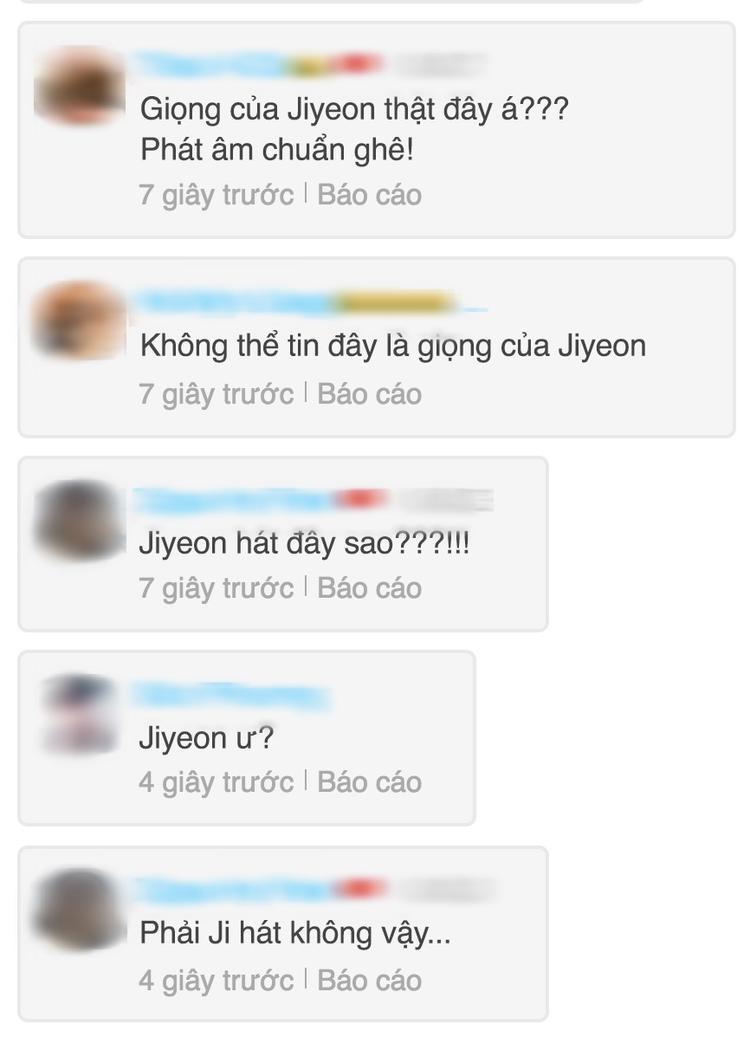 Nhiều ý kiến có phần hoang mang và khó tin vào giọng hát nữ trong MV chính là Jiyeon.