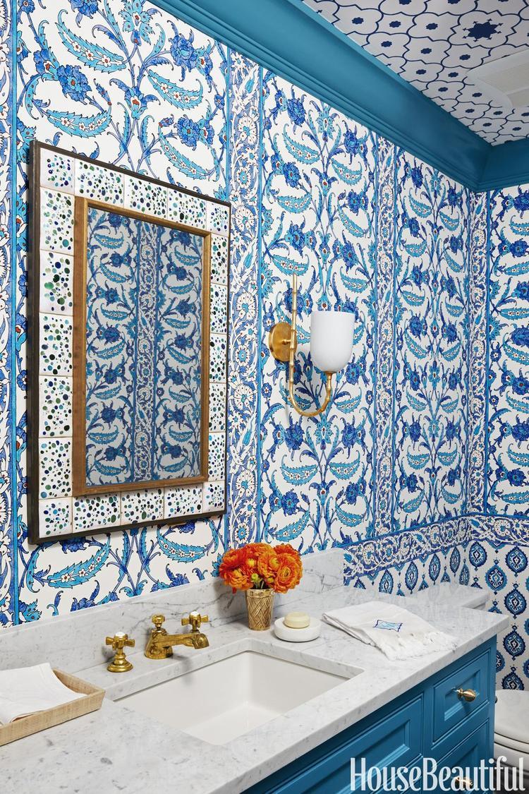 Nếu quá thích màu xanh thì đây sẽ là mẫu nhà tắm dành riêng cho bạn.