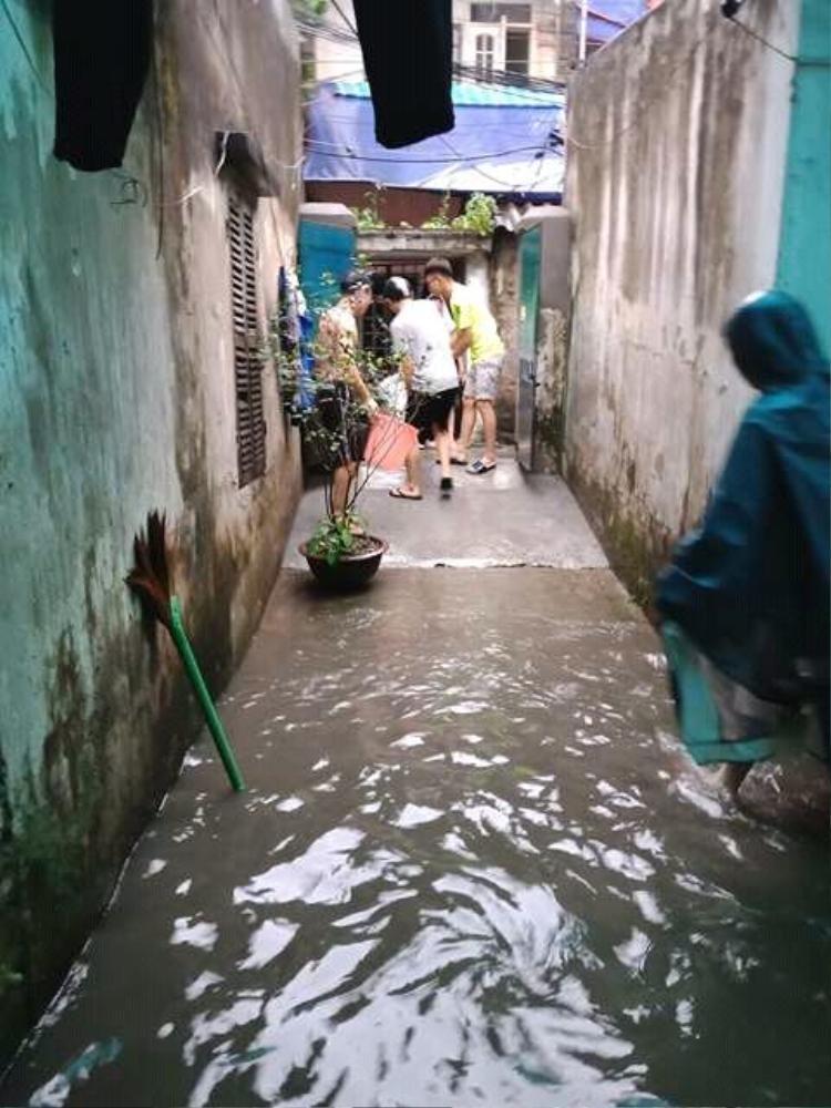 Hà Nội hôm nay phố cũng như sông, khắp nơi mênh mông nước chảy không phân biệt đâu là hồ hay là đường đi