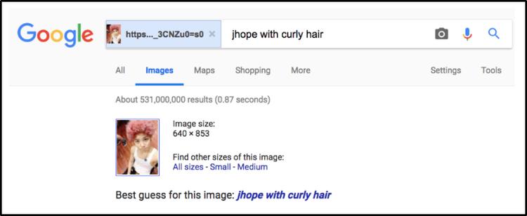 Hình ảnh của Zelo nhưng bị nhầm là J-Hope.