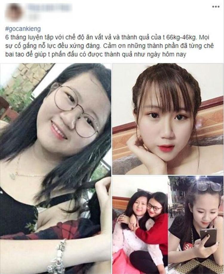 Thành quả giảm cân của cô gái khiến hội chị em không khỏi ngưỡng mộ.