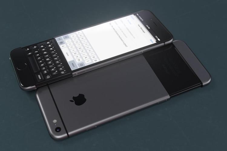 Khi mở toàn bộ bàn phím, chiếc iPhone khá dài.