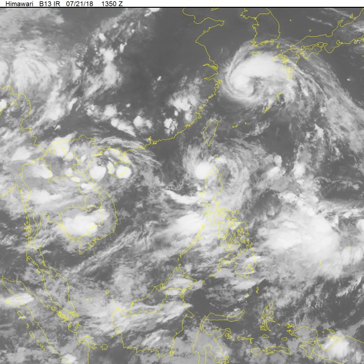 Ảnh bão chụp từ vệ tinh.ẢnhTrung tâm Dự báo khí tượng thủy văn Quốc gia.