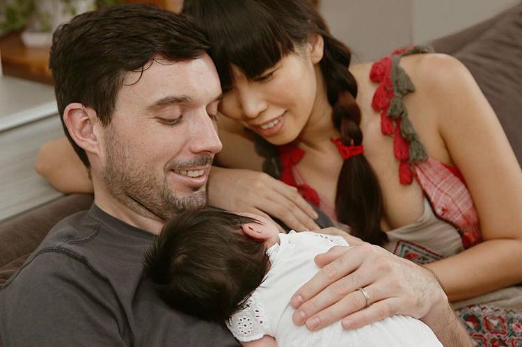 Gia đình hạnh phúc của Hà Anh.