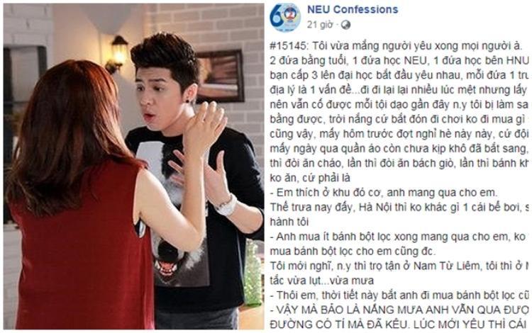 Sau khi được đăng tải lên NEUConfession, câu chuyện của chàng trai đã thu hút sự chú ý của cộng đồng mạng và nhanh chóng thu về hàng nghìn lượt yêu thích cùng bình luận.
