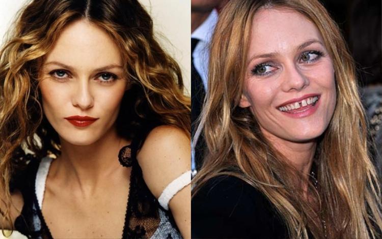 """Tình cũ của Johnny Depp - ca sĩ Vanessa Paradis - gây dấu ấn riêng với """"nụ cười răng thưa"""" của mình."""