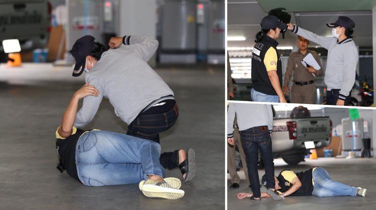 Tomboy đánh đập bạn gái dã man đã quay lại hiện trường để tái hiện lại hành vi của mình