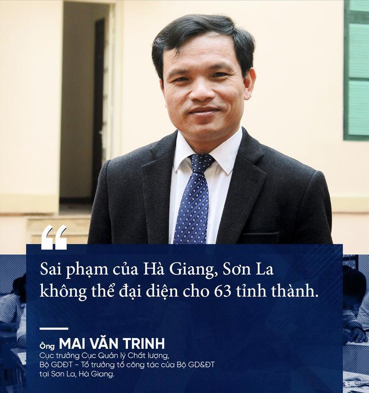 Gian lận điểm thi chưa từng có trong lịch sử giáo dục ở Hà Giang, Sơn La: Những phát ngôn đáng chú ý của Cục trưởng Mai Văn Trinh