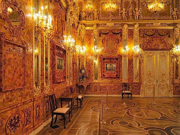 Phiên bản phục dựng của căn phòng hổ phách nổi tiếng. Ảnh:Times