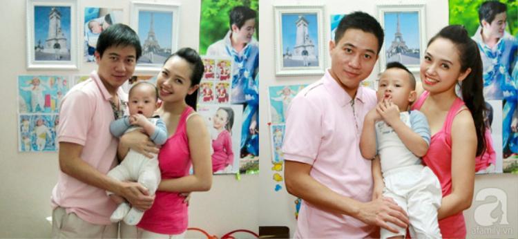 Ngọc Trang khi còn hạnh phúc với chồng cũ.