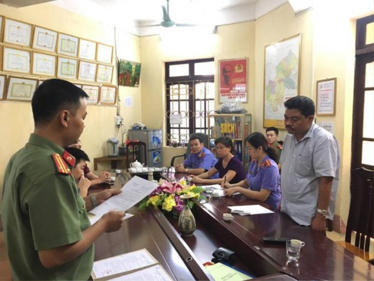 Cơ quan công an bắt lệnh tạm giam Nguyễn Thanh Hoài.