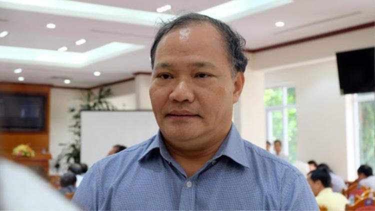 Thứ trưởng Bộ Nông nghiệp - Phát triển nông thôn Hoàng Văn Thắng, Phó trưởng Ban Thường trực Ban Chỉ đạo Trung ương về Phòng, chống thiên tai. Ảnh Người Lao Động.