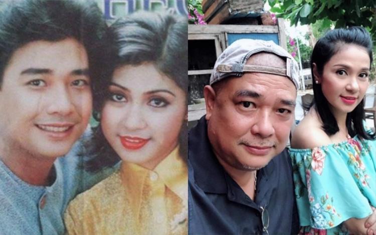 """Lê Tuấn Anh và Việt Trinh có cuộc tái ngộ sau gần 20 năm, """"người đẹp Tây Đô"""" vẫn giữ được nét mặn mà trong khi ông xã Hồng Vân đã biểu hiện nhiều dấu vết của tuổi tác."""