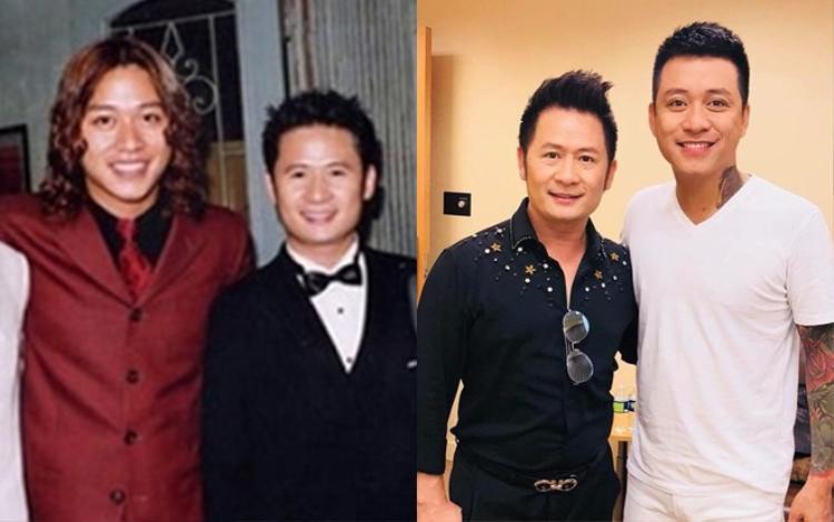 Tuấn Hưng - Bằng Kiều trong hai bức ảnh cách nhau tận 9 năm nhưng dường như chỉ khác nhau ở kiểu tóc nhỉ!