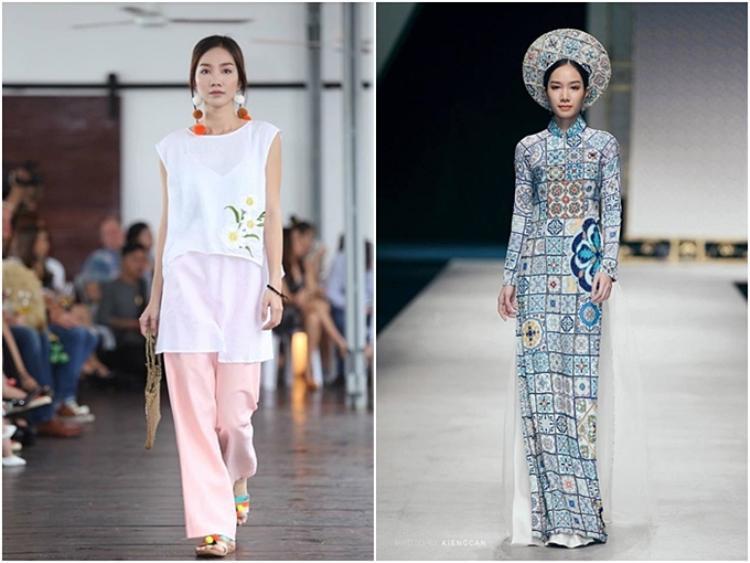 Sở hữu thân hình đẹp, Hồng Tuyết cũng từng tham gia các sự kiện thời trang.