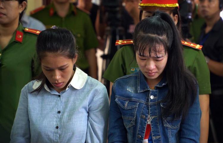 Hai bị cáo Nguyễn Thị Đào và Phạm Như Huỳnh.