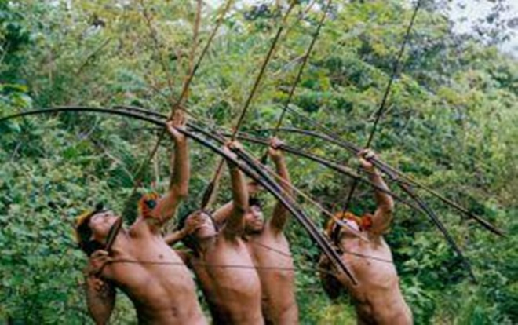 Cuộc sống của họ hoàn toàn tự cung tự cấp bằng săn bắn và hái lượm. Ảnh: Odditycentral