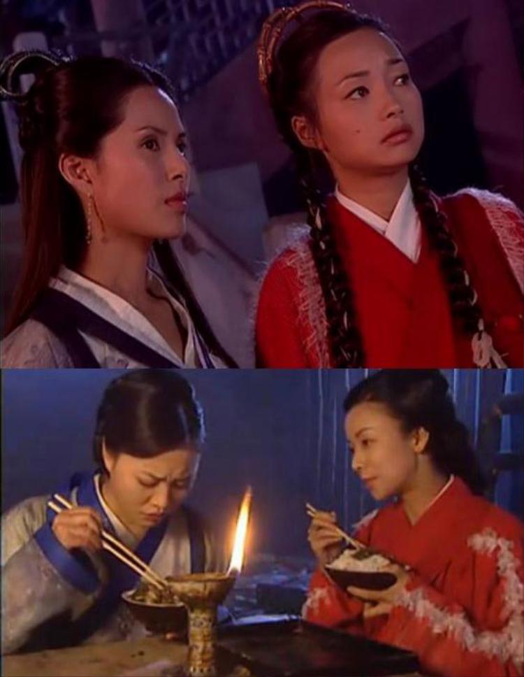 """Dương bát muội, Dương Bài Phong, Dương tam nương, La Thị Nữ diện cùng trang phục trong """"Dương môn nữ tướng""""."""