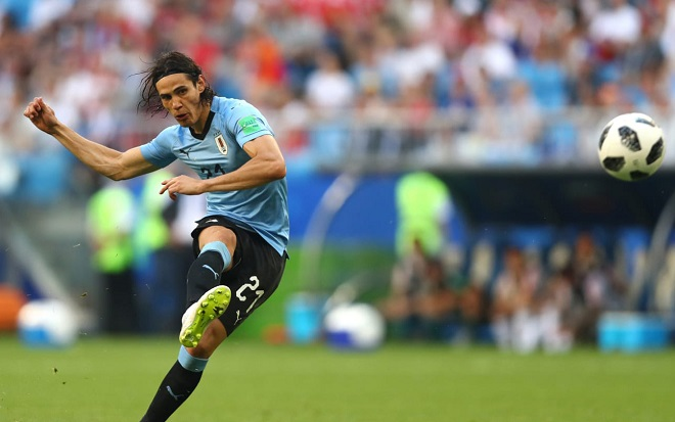 Cavani từng ghi 2 bàn thắng vào lưới ĐT Bồ Đào Nha. Ảnh: Fifa.com.