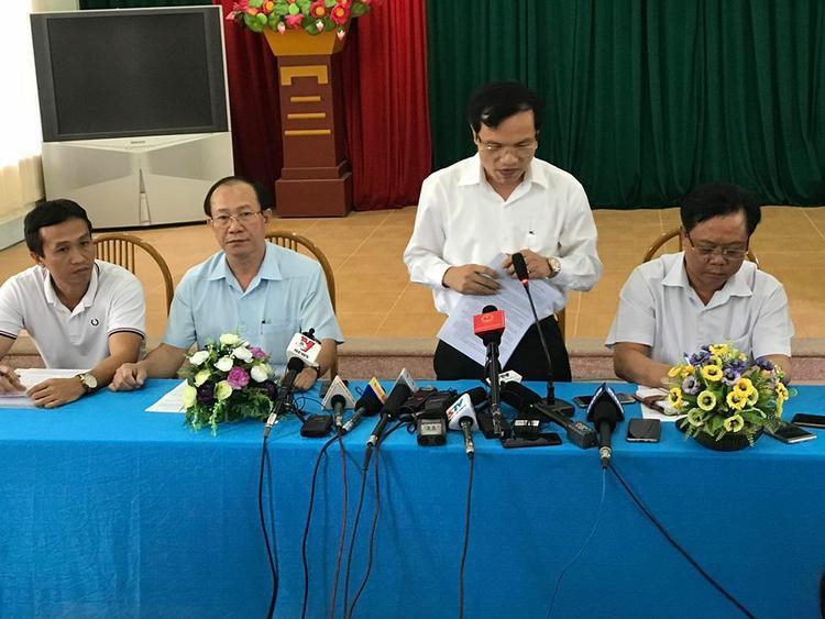 Họp báo công bố sai phạm trong kỳ thi THPT quốc gia ở Sơn La.