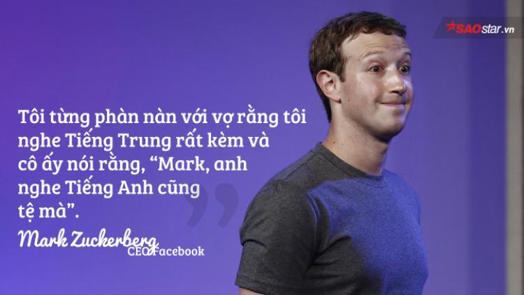 Một trong những lý do Mark Zuckerberg học tiếng Trung là gia đình vợ anh nói tiếng Trung.