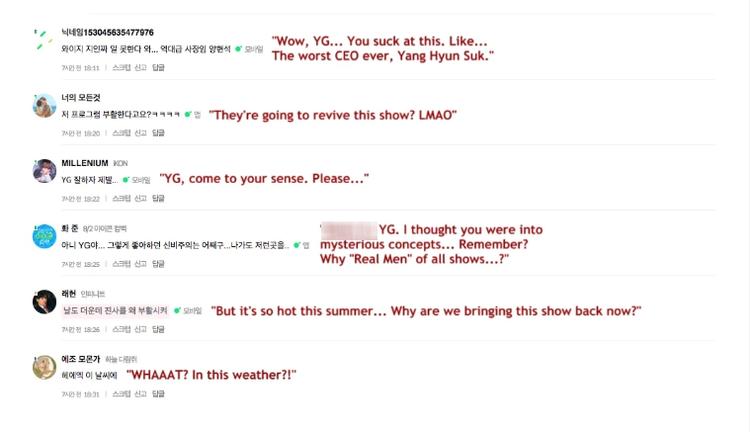 Rất nhiều ý kiến của cộng đồng mạng lên tiếng phản đối việc Lisa tham gia Real Men.