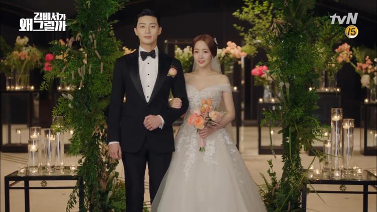 Hậu đám cưới Thư ký Kim, Ji Sung và Han Ji Min dẫn nhau vào lễ đường  Ai là cô dâu đẹp nhất?