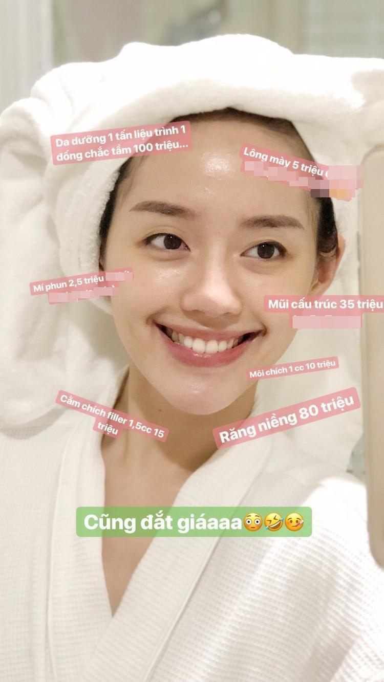 Theo trend, Khánh Linh The Face tự bóc giá gương mặt đã được thẩm mỹ lên đến hàng trăm triệu đồng!