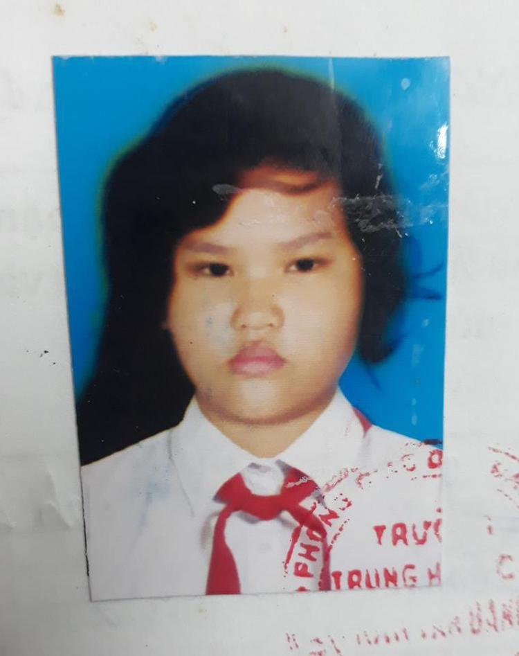 """Ảnh hồi lớp 6 của cô gái luôn bị bạn bè trêu chọc, chế giễu là """"Happy Polla Việt Nam"""". Ảnh Trần Hà Minh Thanh."""