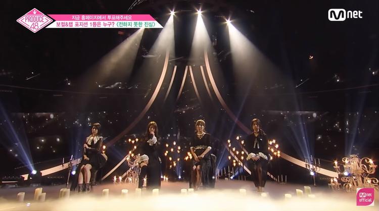 Nhóm đảm nhiệm gồm Takeuchi Miyu, Jang Gyuri (main vocal), Miyazaki Miho, Iwatate Saho. (Từ trái sang phải)