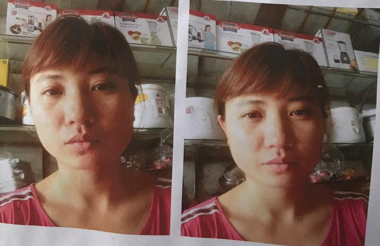 Hình ảnh chị Hiền trước khi mất tích.