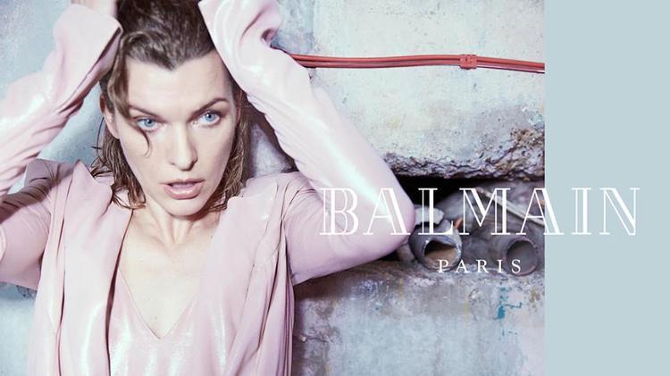 Diễn viên điện ảnh / siêu mẫu Milla Jovovich trong buổi chụp với Balmain