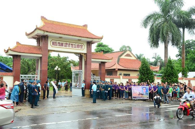 Nghĩa trang thị xã Sơn Tây, nơi an nghỉ của anh Trí